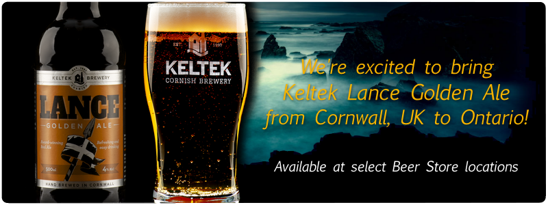 We're excited to bring Keltek Golden Lance to Ontario! Available at select Beer Store locations.